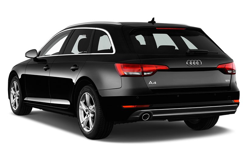 Audi A4 Avant All-in-One-Paket (neues Modell) a4 avant all-in-one-paket (neues modell) schräge heckansicht